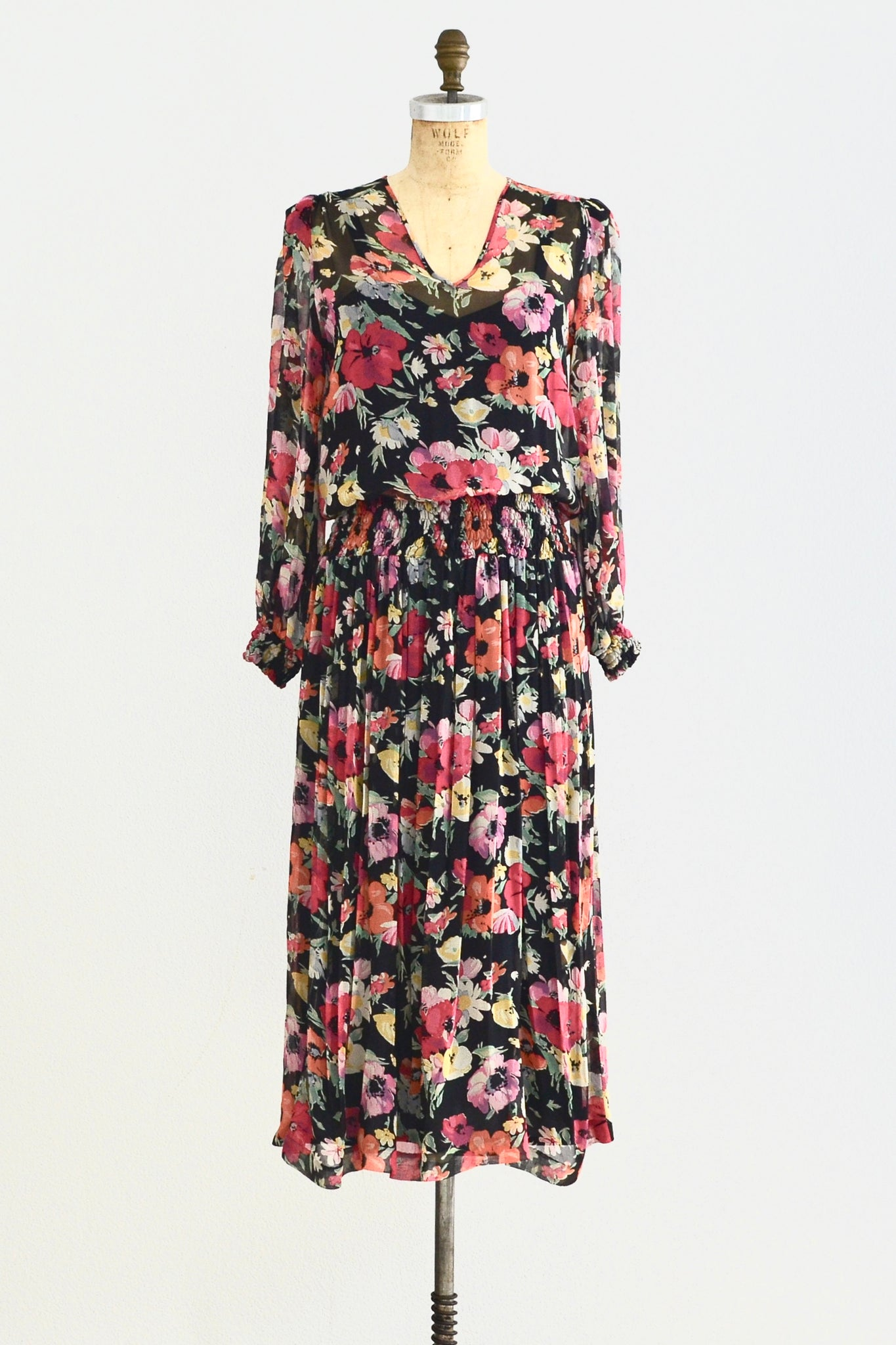 Windsor Chiffon Dress - Pickled Vintage
