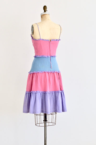 70s Sorbet Colorblock Dress - Pickled Vintage