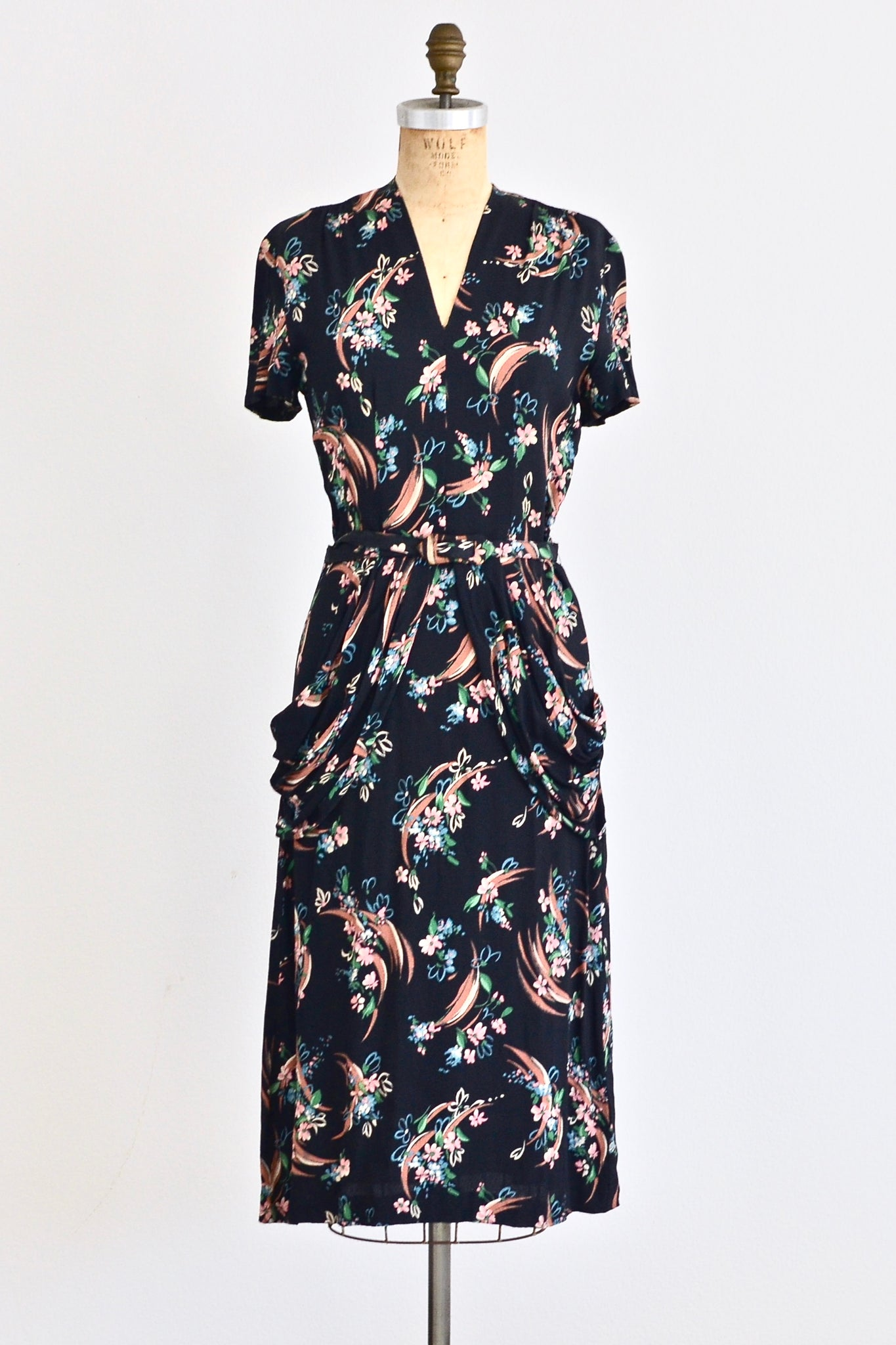 1940s Floral Dress - Pickled Vintage