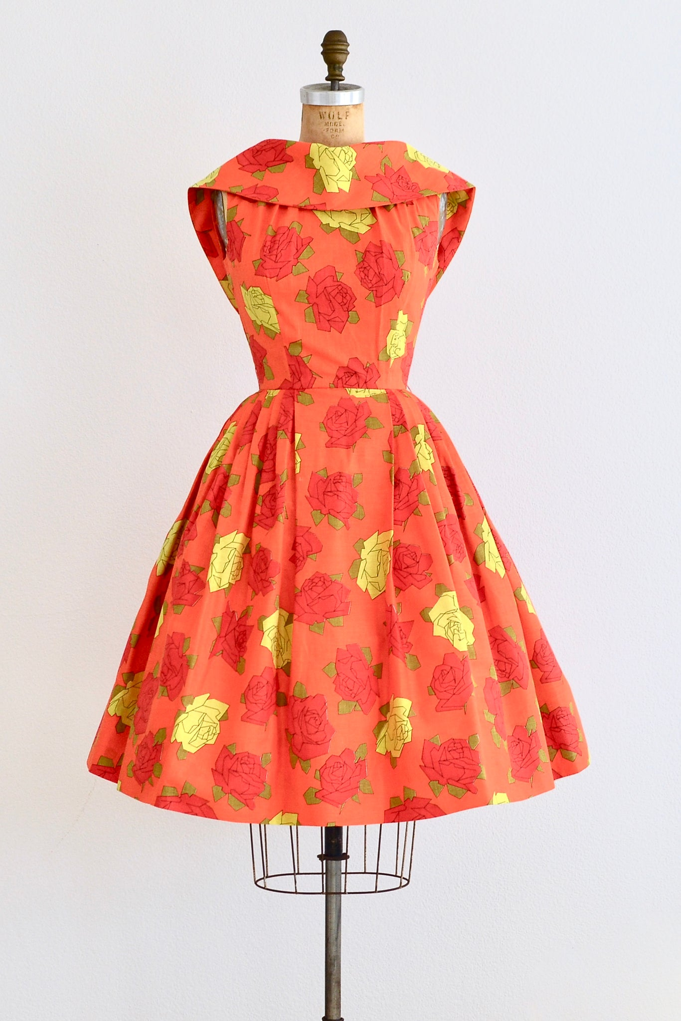 Origami Rose Dress - Pickled Vintage