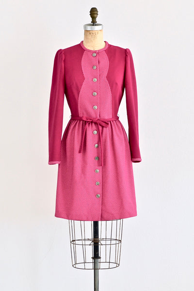 Fuchsia Rose Dress - Pickled Vintage