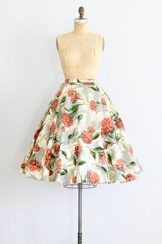 50s Floral Skirt - Pickled Vintage