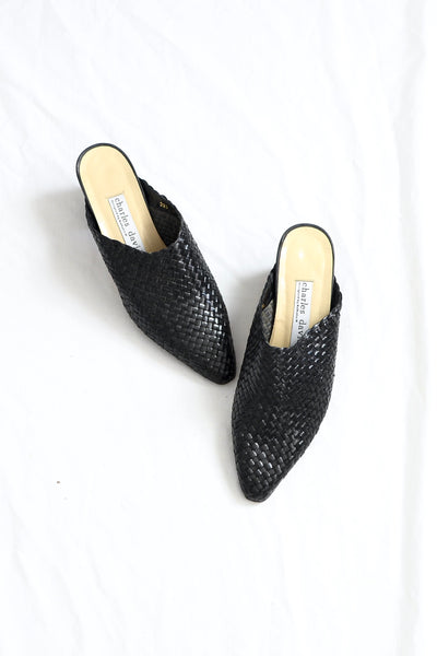 Woven Mules - Pickled Vintage