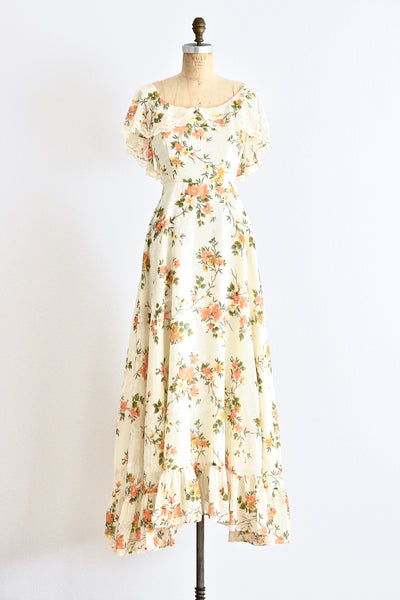 Floral Maxi Dress - Pickled Vintage