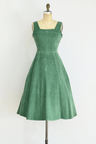 1950s Green Corduroy - Pickled Vintage