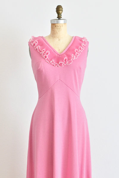 1960s Pink Maxi Dress - Pickled Vintage