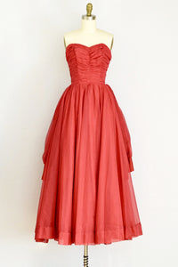 1950s Red Party Dress - Pickled Vintage
