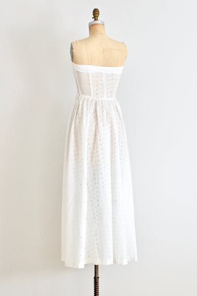 40s Strapless Tea Dress - Pickled Vintage