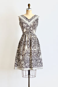 50s Batik Dress - Pickled Vintage