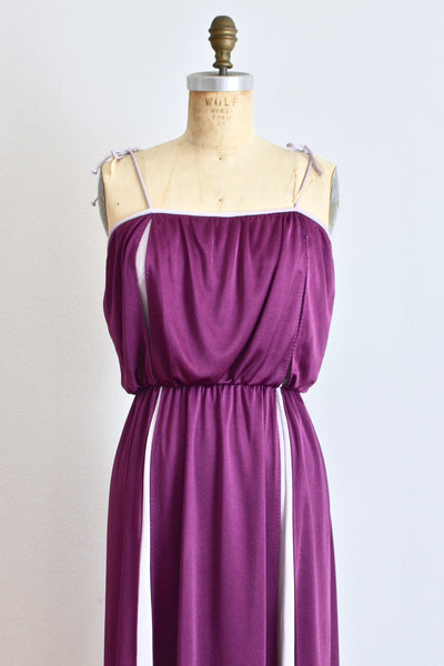 60s Aubergine  Dress - Pickled Vintage