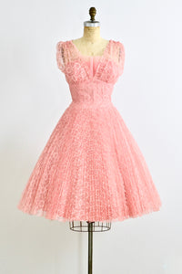 Coral Pink Party Dress - Pickled Vintage