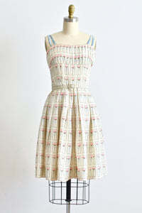50s Rose Print Dress - Pickled Vintage