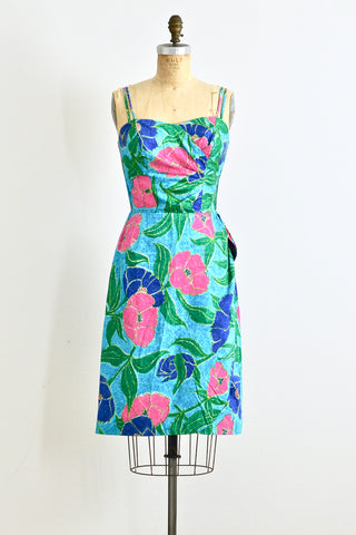 1950s Sarong Dress - Pickled Vintage