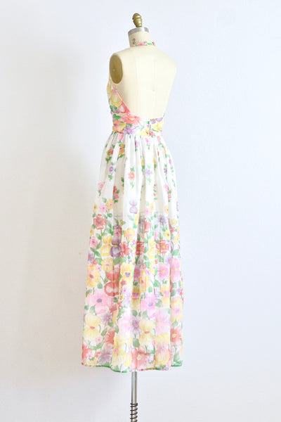 60s Halter Dress - Pickled Vintage