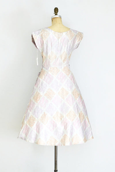 1950s Ruched Dress - Pickled Vintage
