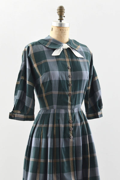 50s Button Front Dress - Pickled Vintage