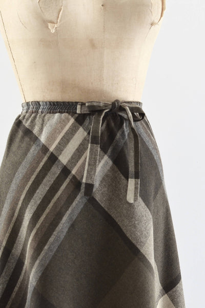 1970s Large Scale Plaid Skirt - Pickled Vintage