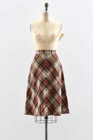 70s Chevron Skirt - Pickled Vintage