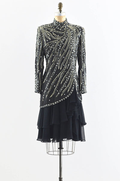 Heavily Beaded Party Dress - Pickled Vintage