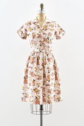 Novelty Print Shirtwaist Dress