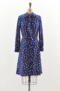 1970's Novelty Print Dress - Pickled Vintage