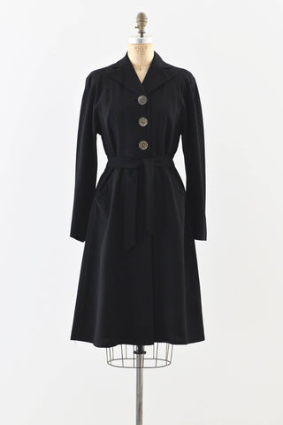 1930s Crepe Coat - Pickled Vintage