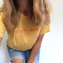 Load image into Gallery viewer, TLB Coffee L❤ver Women's Tee Mustard PREORDER