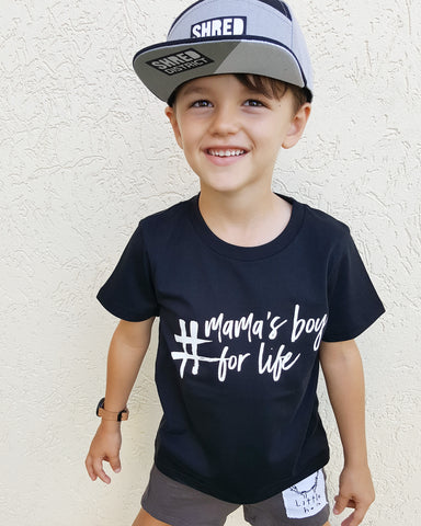 TLB #mamas boy for life tee