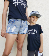 Load image into Gallery viewer, TLB Mama Adult Black Tee #mama of boys (CHOOSE SIZES XS-2XL)