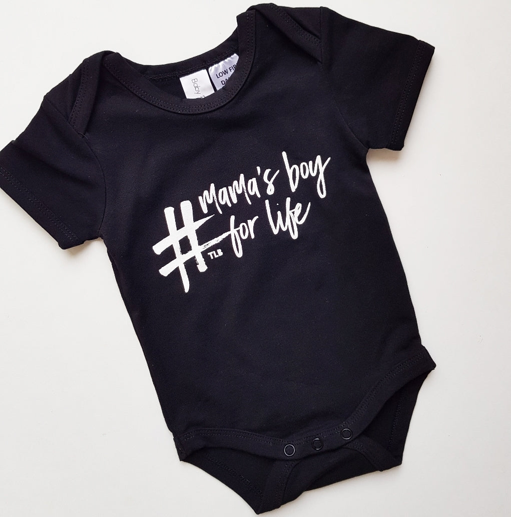 TLB #mamas boy for life Short Sleeve Onesie