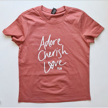 Load image into Gallery viewer, TLB Adore Cherish Love Limited Edition Rust Tee