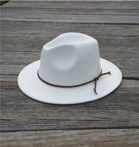 KJH SURF Adult Fedora Hat White PREORDER