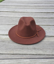 Load image into Gallery viewer, KJH SURF Brown ADULT FEDORA Hat