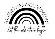 Load image into Gallery viewer, TLB Let the adventure begin rainbow tee