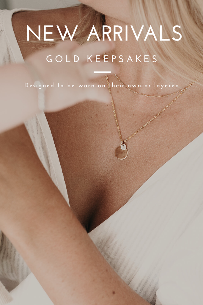 NEW ARRIVALS - Gold keepsake necklaces