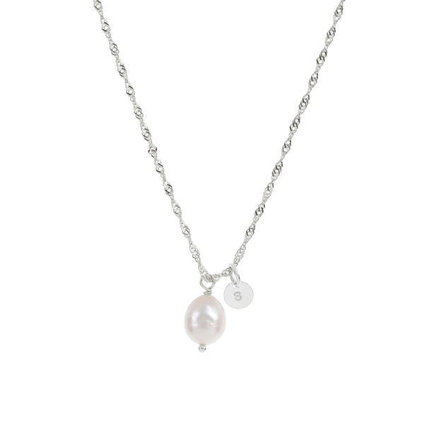 Océane Pearl necklace - Sterling Silver
