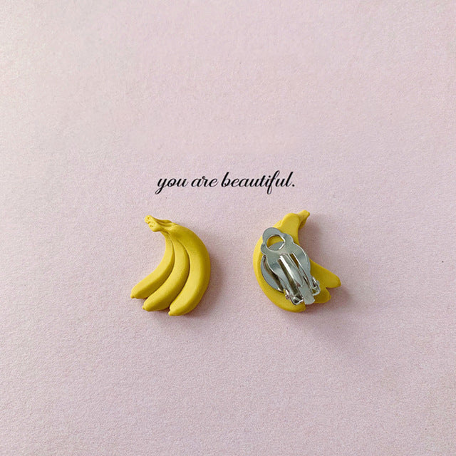 Banana Clip on Earrings - Mini Me Ltd