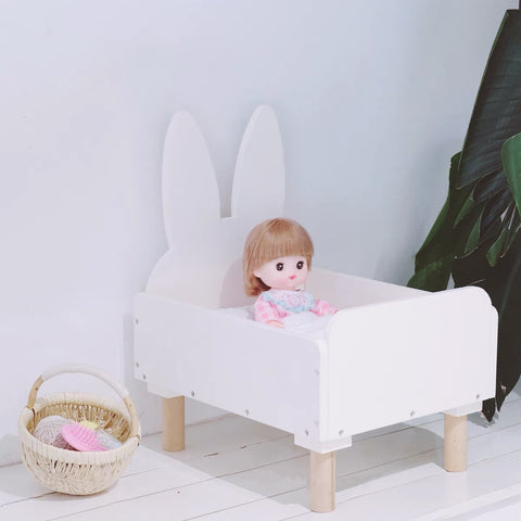 Rabbit Shape Doll Bed & Bedding Set - Mini Me Ltd