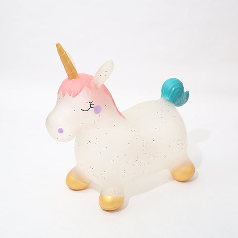 Translucent Unicorn Bouncy Horse Hopper
