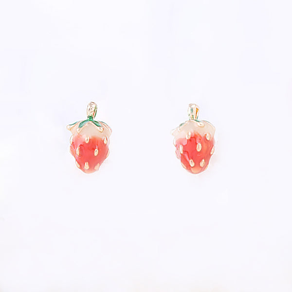 Strawberry Earrings for Kids - Mini Me Ltd