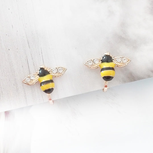 Bee Earrings for Kids - Mini Me Ltd