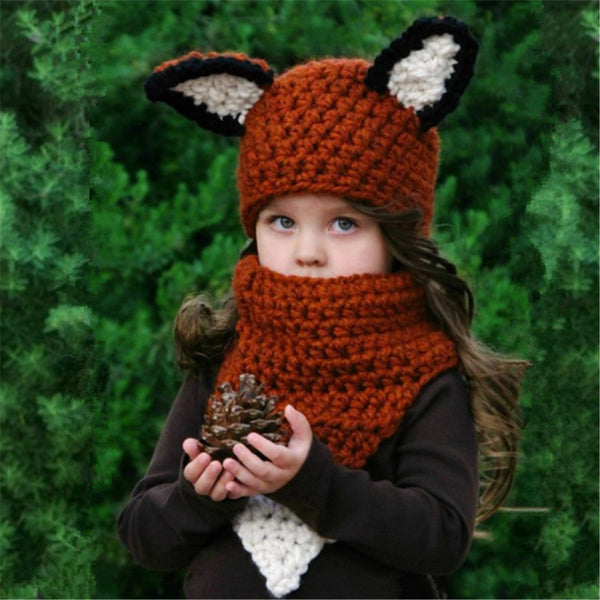 Fox #2 Kids Knitted Hat (3Y-8Y) - Mini Me Ltd