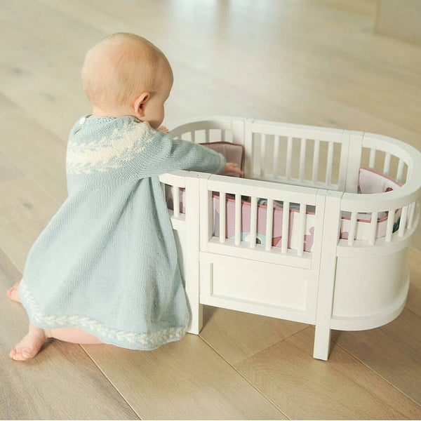 Wooden Dolls Cot Bed - Mini Me Ltd
