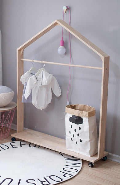 Movable Clothes Rack - Mini Me Ltd