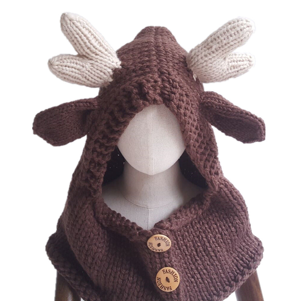Moose Kids Knitted Hat (2Y-9Y) - Mini Me Ltd