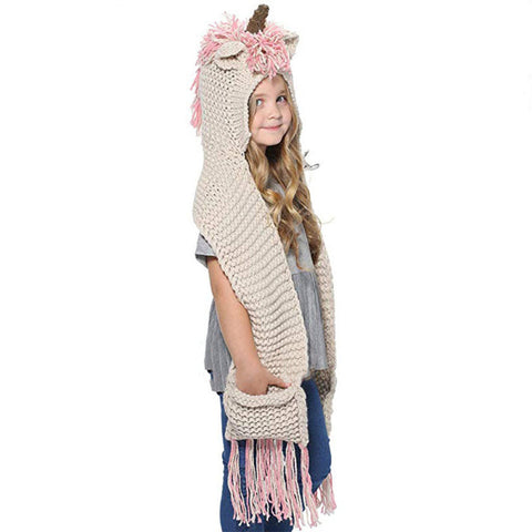 Unicorn Kids Knitted Hat (2Y-6Y) - Mini Me Ltd