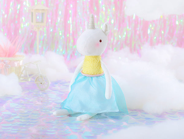 Unicorn Doll - Yellow - Mini Me Ltd