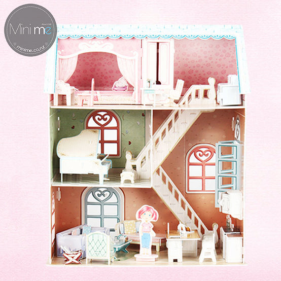 3D paper puzzle dream dollhouse- Pianist's home