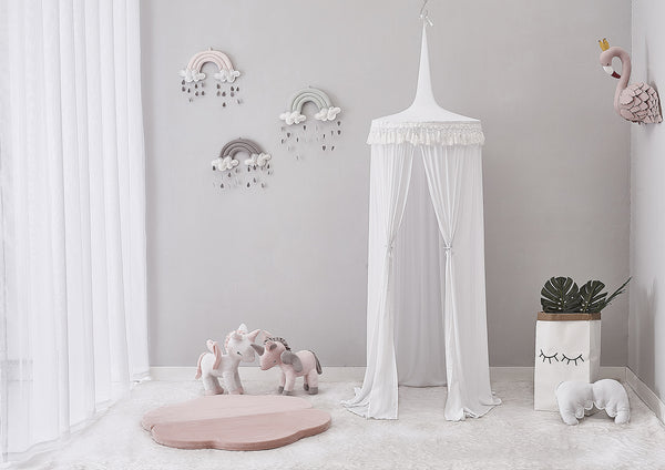 White Canopy with Tassel - Mini Me Ltd