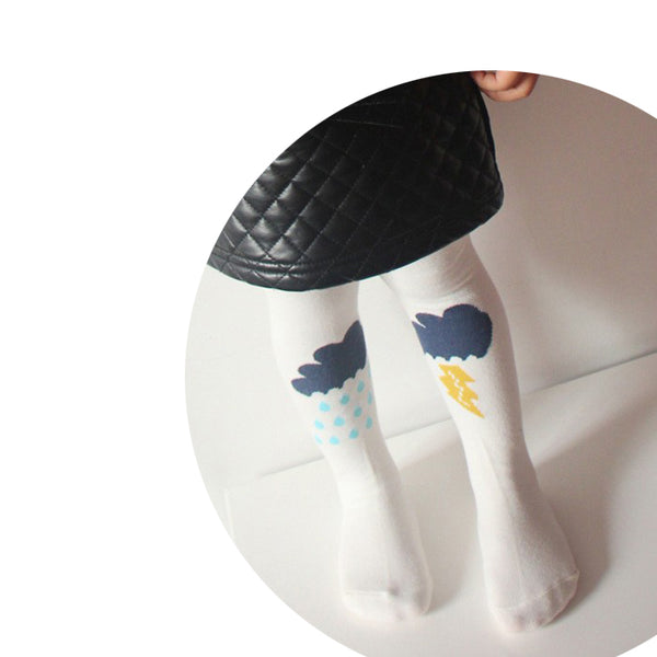 Clouds & Rain Tights - Mini Me Ltd